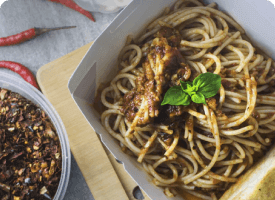 Chicken srirancha noodles